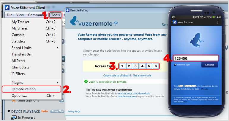 Vuze Remote for Android